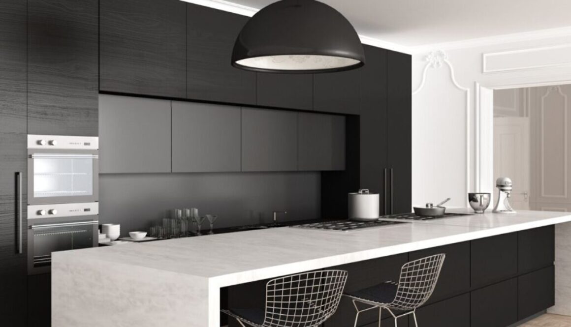A kitchen with Muji interior design principles.