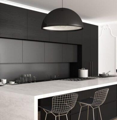 A kitchen with Muji interior design principles.