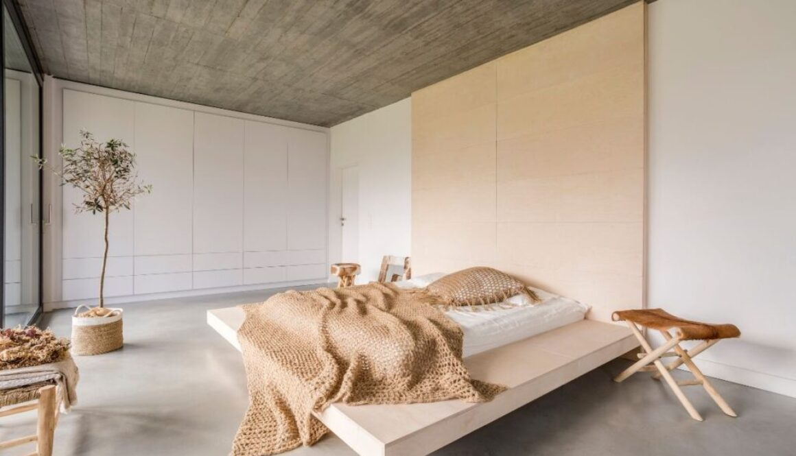 A room full of eco-friendly wooden furniture