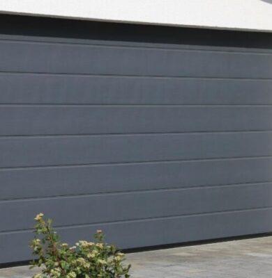 An interior garage door.