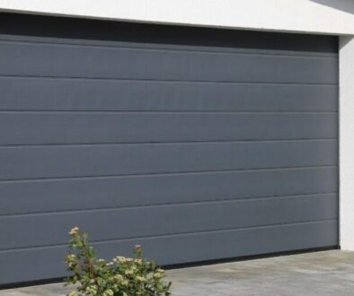 An interior garage door.