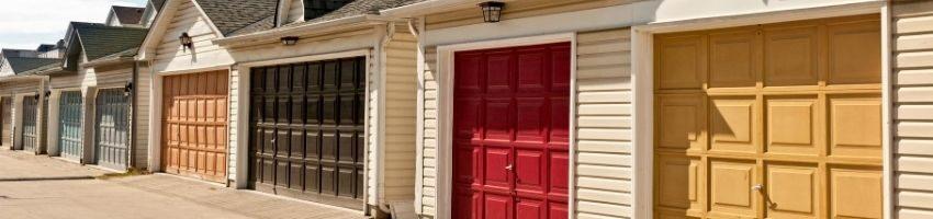 An interior garage door example.