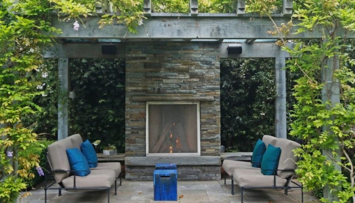 Outdoor fireplace plans.