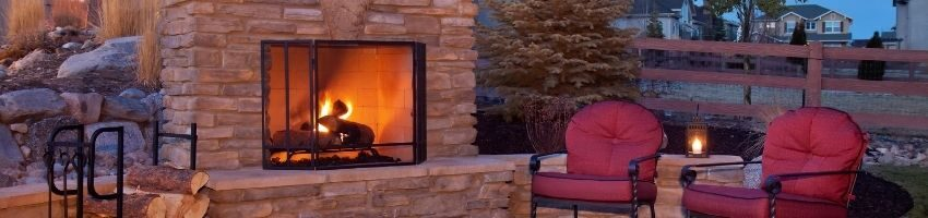 Outdoor fireplace plans examples.