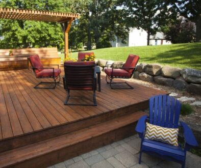 An outdoor deck built using the best woods.