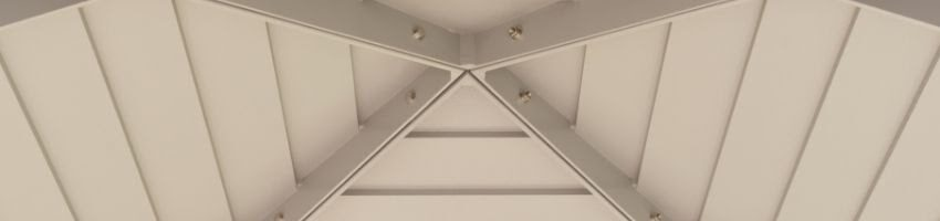 An example of a type of ceiling used in homes.